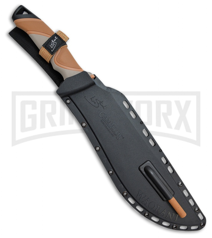 Camillus Waorani Brown Polymer Machete - Black Plain