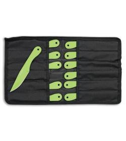 Z Hunter Zombie Reaper 12 Piece Throwing Knife Set Green Plain