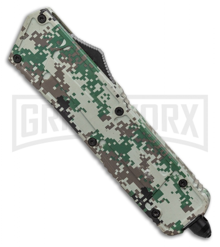 Rumble Digi Camo D/A OTF Automatic Knife -  Tanto Two Tone