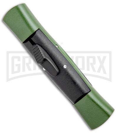 AKC 007 Concord Green/Black OTF Automatic Knife - Dagger Black