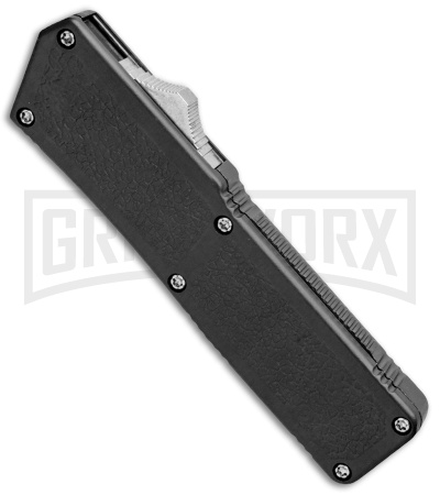 Lightning Black D/A OTF Automatic Knife - Clip Point Satin