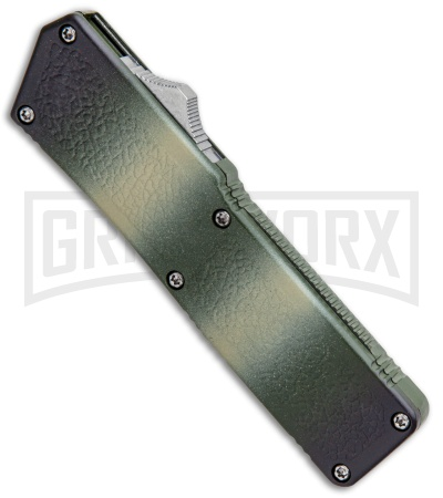 Lightning Camo D/A OTF Automatic Knife - Two-Tone Serrated
