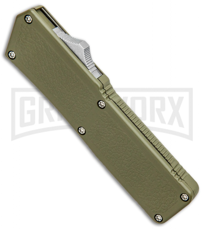 Lightning OD Green D/A OTF Automatic Knife - Clip Point Two Tone