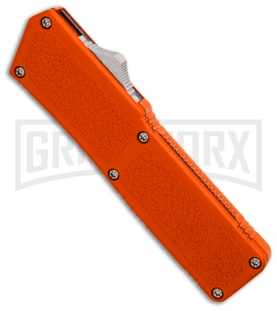 Lightning Orange D/A OTF Automatic Knife - Dagger Two-Tone