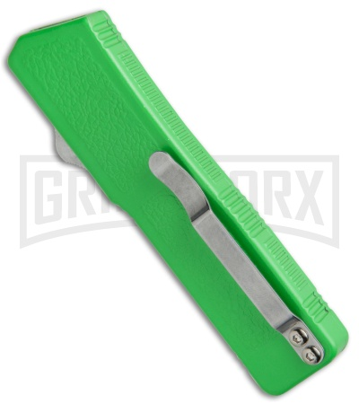 Lightning Zombie Edition Green D/A OTF Automatic Knife - Dagger Satin Plain