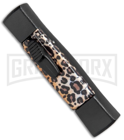 AKC Minion Concord Leopard OTF Automatic Knife - Flat Black Plain