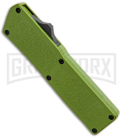 Thunder Green D/A OTF Automatic Knife - Black Plain