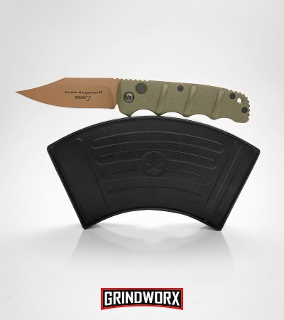 Boker Kalashnikov Desert Warrior Bowie Automatic Knife - Copper Plain