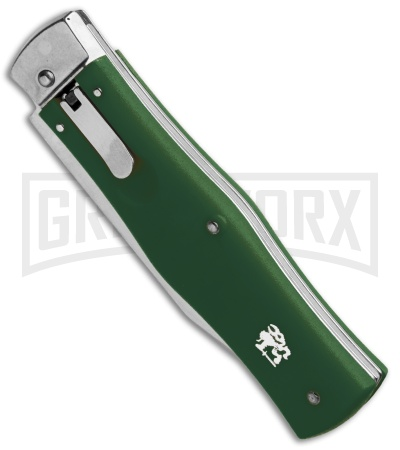 Mikov 241 Predator ABS Green Automatic Leverlock Knife - Clip Point Polish