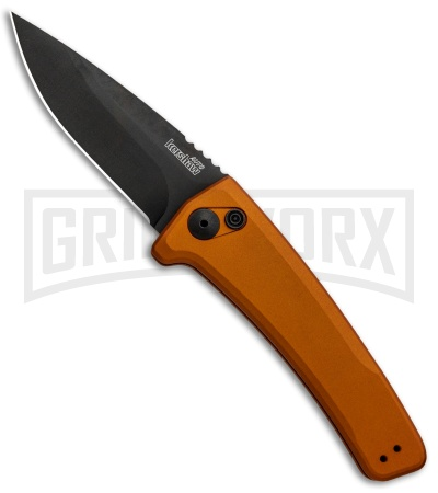 Kershaw Launch 3 Bronze Aluminum Automatic Knife - Black Plain