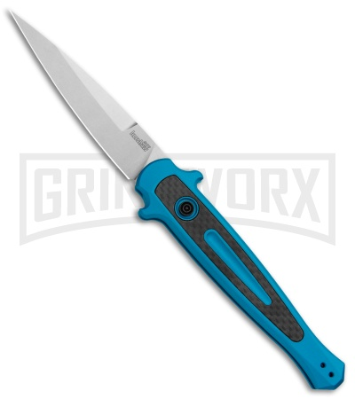 "Kershaw Launch 8 Stiletto Automatic Knife Teal/CF (3.5"" Stonewash)"