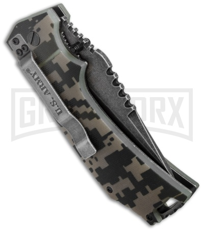Master Cutlery US Army Gremlin Digi-Camo Spring Assisted Knife - Stonewash Plain