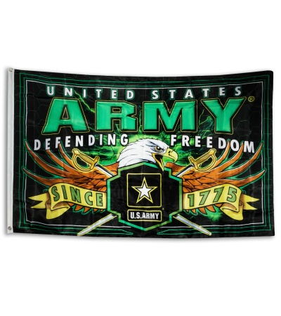 Large Green And Yellow Army Flag 60 Quot X 36 Quot 4th18 Grindworx
