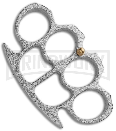 Love Knuckle Paper Weight Belt Buckle - Textured Silver