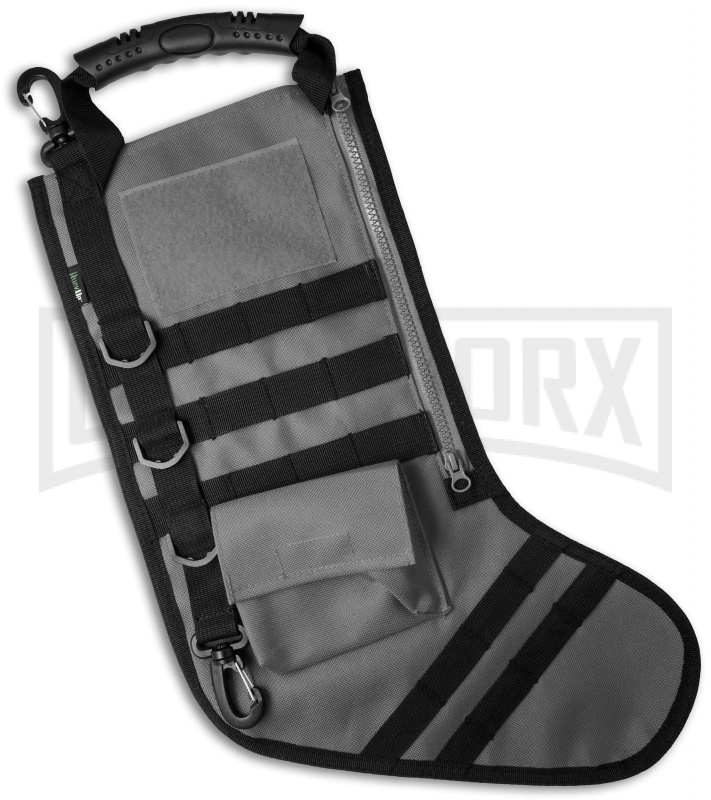 Tactical Christmas Stocking.Gray Tactical Christmas Stocking Deluxe Molle Elite Version
