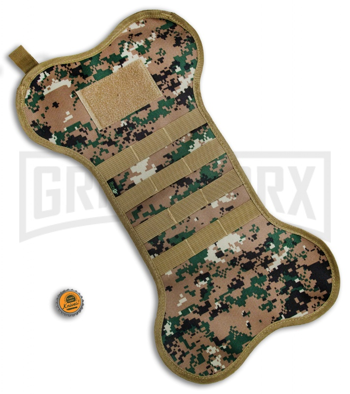 green digi camo k9 dogbone tactical christmas stocking grindworx