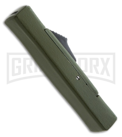 AKC Minion Concord Green OTF Automatic Knife - Flat Grind Polish Plain