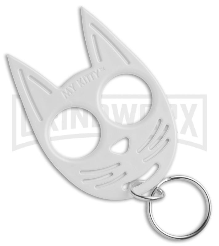 Streetwise My Kitty Self Defense Key Chain Knuckles Glow In The Dark Grindworx