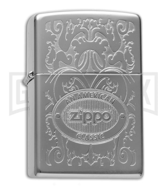 Zippo Lighter Crown Stamp Zippo American Classic - High Polish Chrome