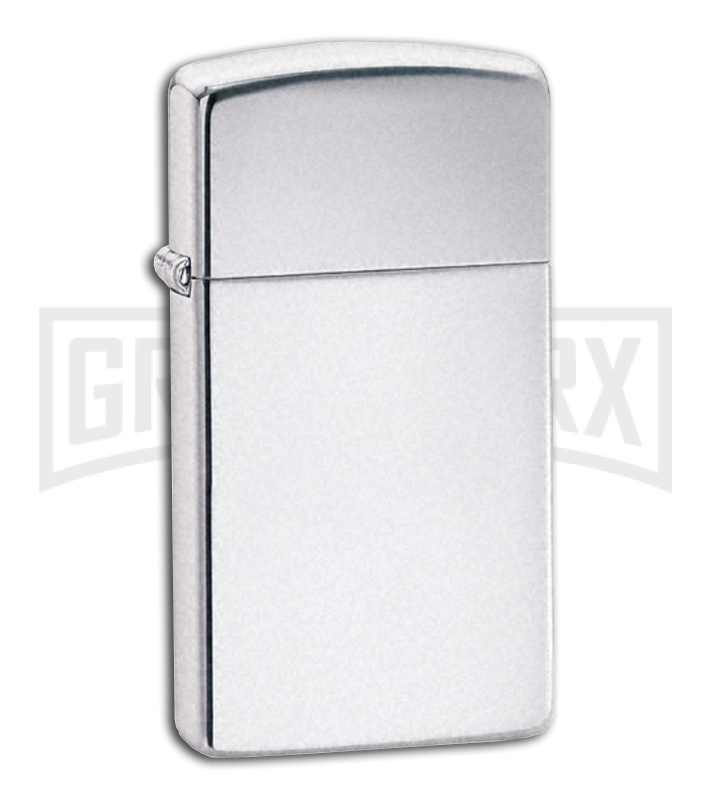 Zippo Lighter Slim High Polish Chrome 1610
