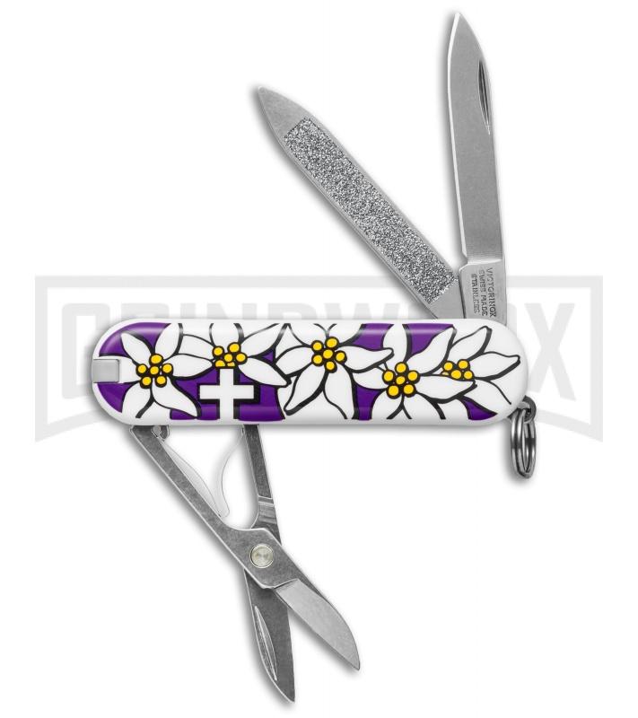 Victorinox Classic Purple Edelweiss Graphic Swiss Army